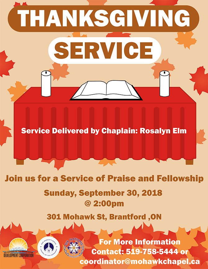 mohawk chapel thanksgiving service