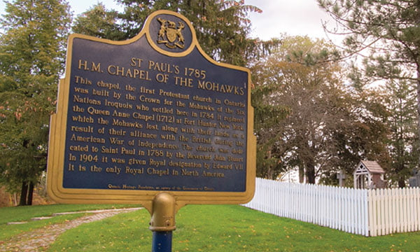 St Paul's 1785 Sign - Her Majesty's Royal Chapel of The Mohawks Historic Site
