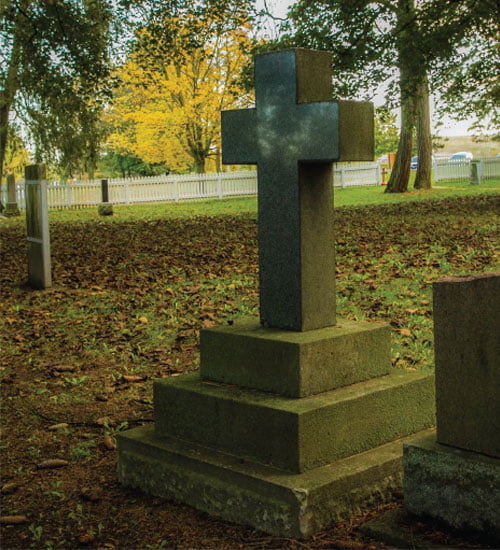 Her Majesty's Royal Chapel of The Mohawks Grave with Cross