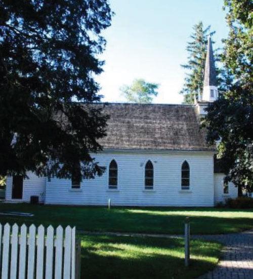 Side of Mohawk Chapel