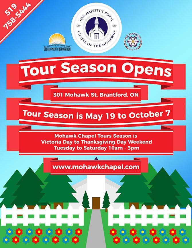 tour season at mohawk chapel